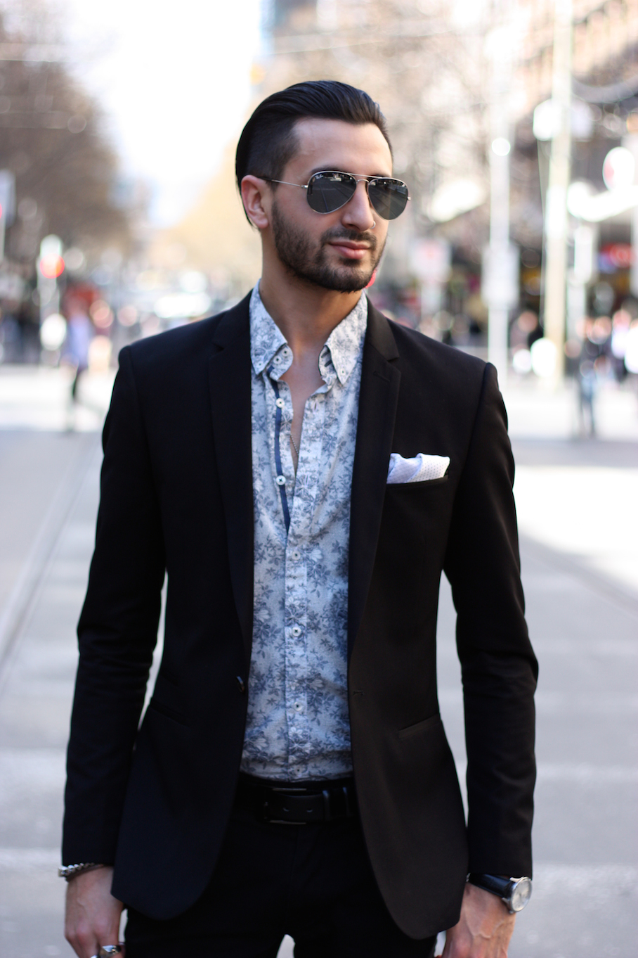 """Vic: Nicolas Clavero, Sales Rep, Bourke St Mall. """"My style is work attire on the go."""" <a href=""""http://www.marythamphotography.weebly.com/"""" target=""""_blank""""> Photo: Mary Tham </a>"""