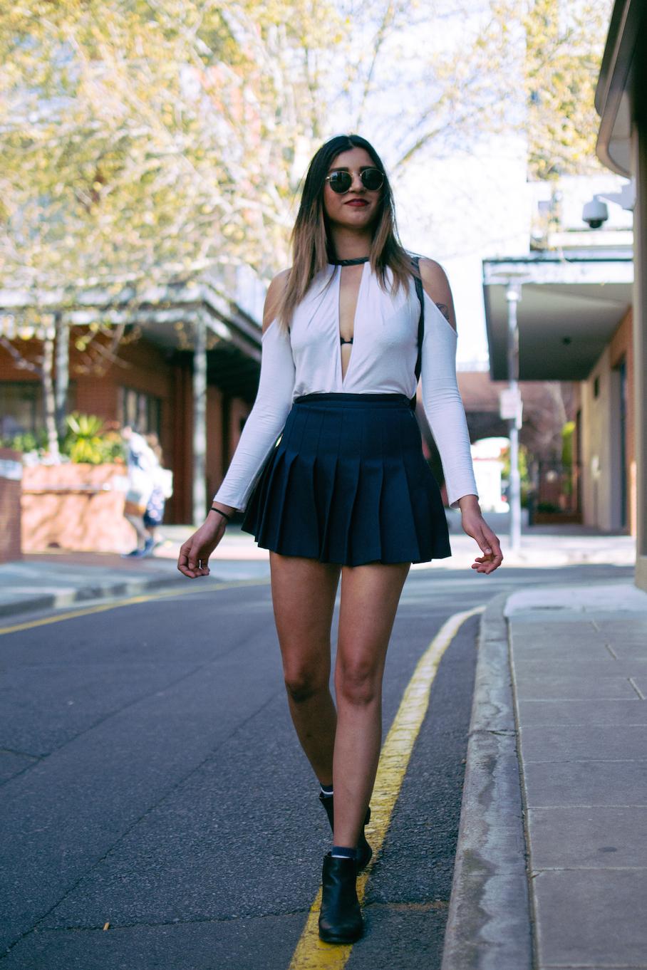 "SA: Reena Kaur, Bar Staff, Ebenezer Place, Adelaide. ""My style's casual but  playful."" Photo: Dimitra Koriozos."