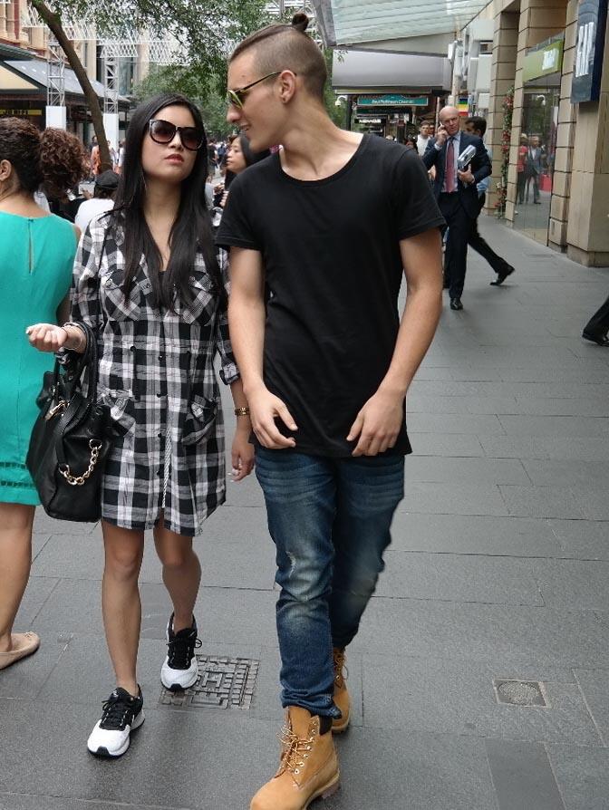 NSW: Ivey Isley, Fashion Consultant (L) and Sebastian Neale (retail), Pitt St. Photo: Kevin Chun