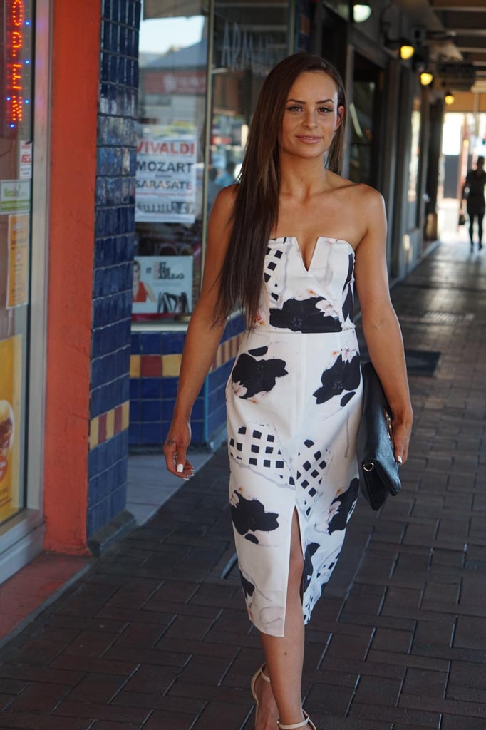 SA: Amee Miller, mum, spotted at Fellini Café, North Adelaide. Tags:  Dress: From NK Fashion, Tea-Tree Plaza Shoes: Novo