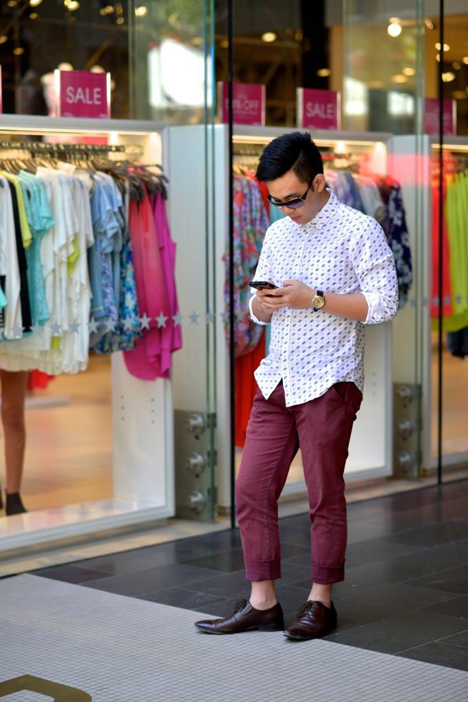 WA: Andreas, student, the Mall, Perth. Photo: Alan Wu