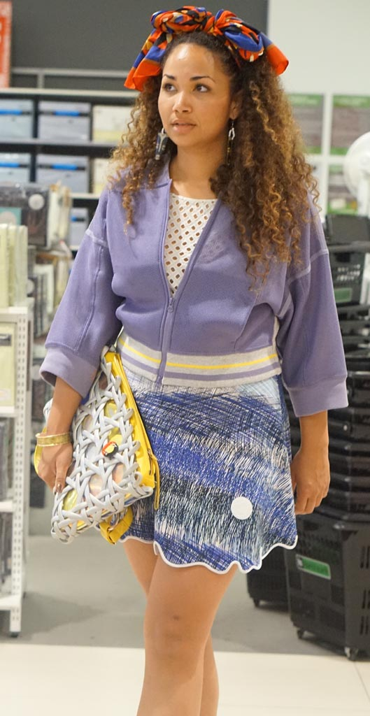 SA: Claudette Justice-Allen, musician/singer, snapped walking through Harris Scarfe, Adelaide