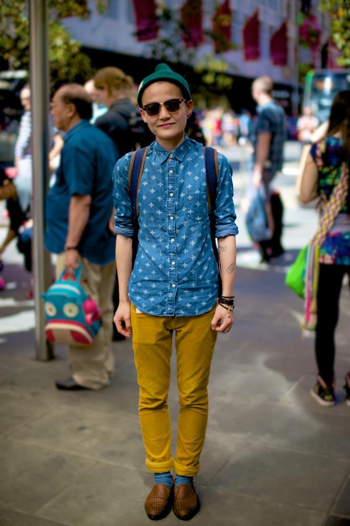 VIC: Shihi snapped by Kiyoshi-Riki in Bourke Street Mall, Melbourne