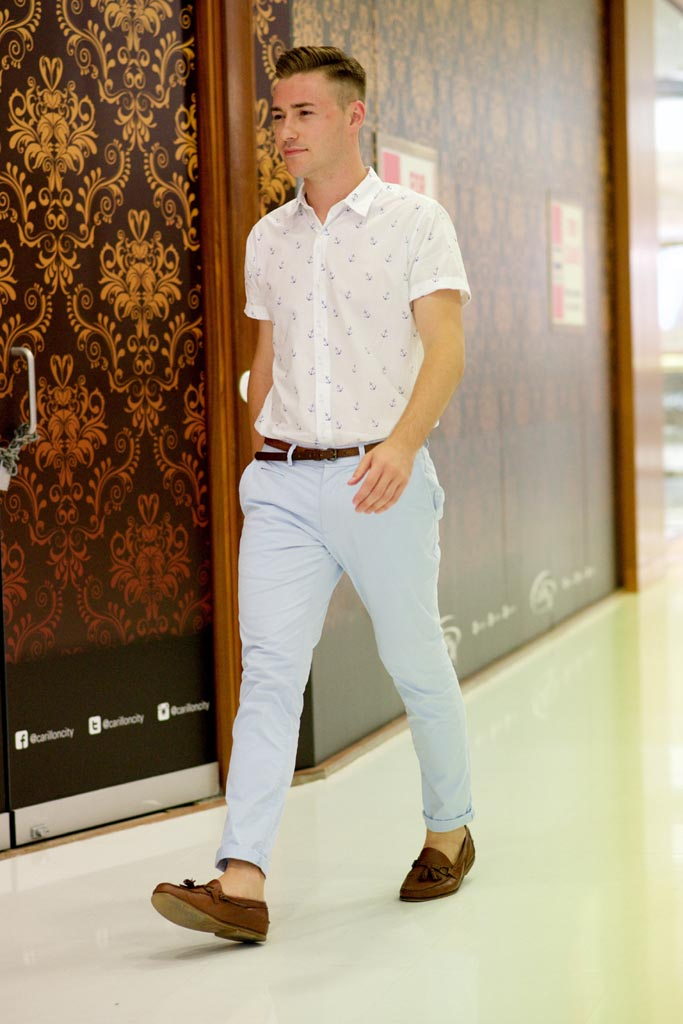 "Perth: James Allenbenny, Carillon Arcade. ""I like my style to be simple, understated and elegant."" Photographed by Alan Wu."
