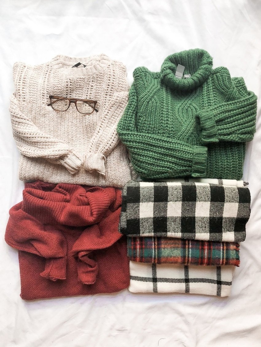 well organised winter knits