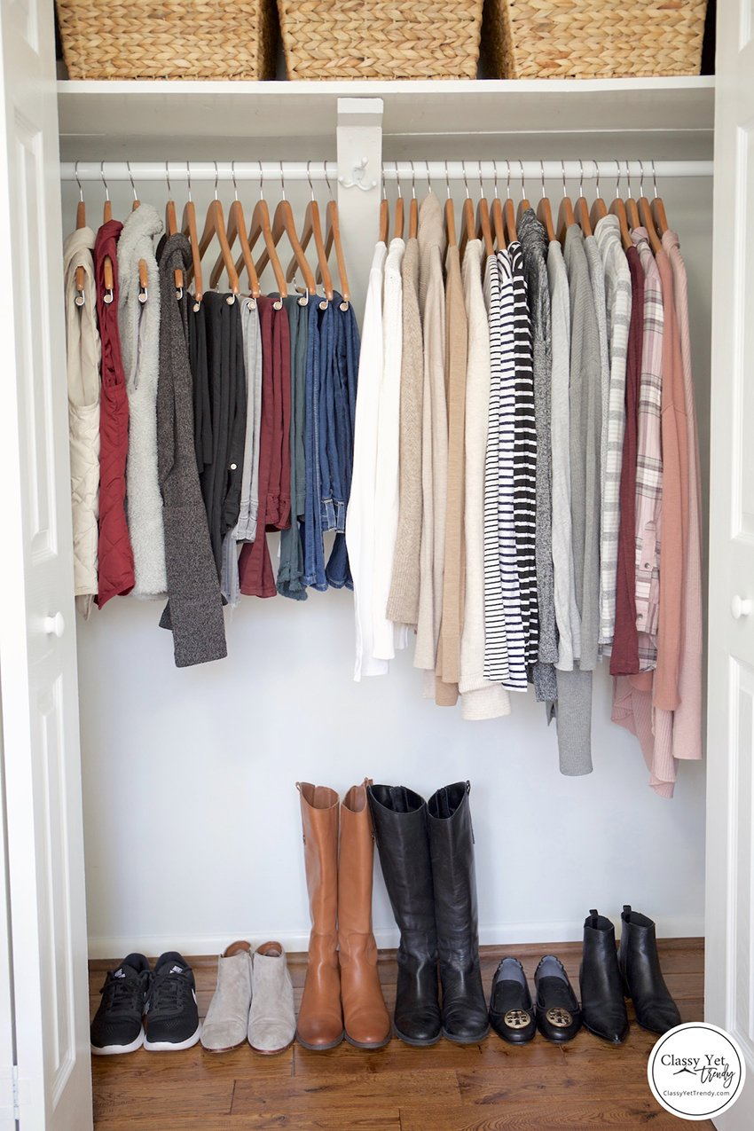 a well organised wardrobe