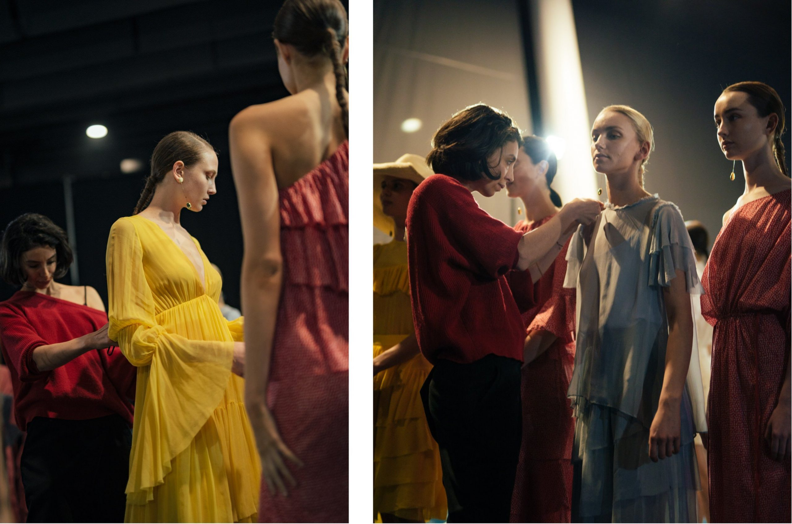 Backstage at the 20th Telstra Perth Fashion Festival
