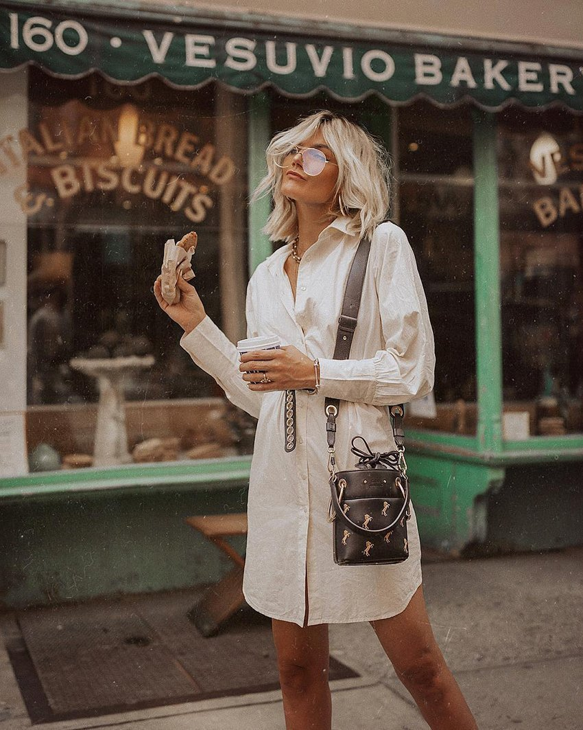 The shirt dress - a very popular fashion style right now