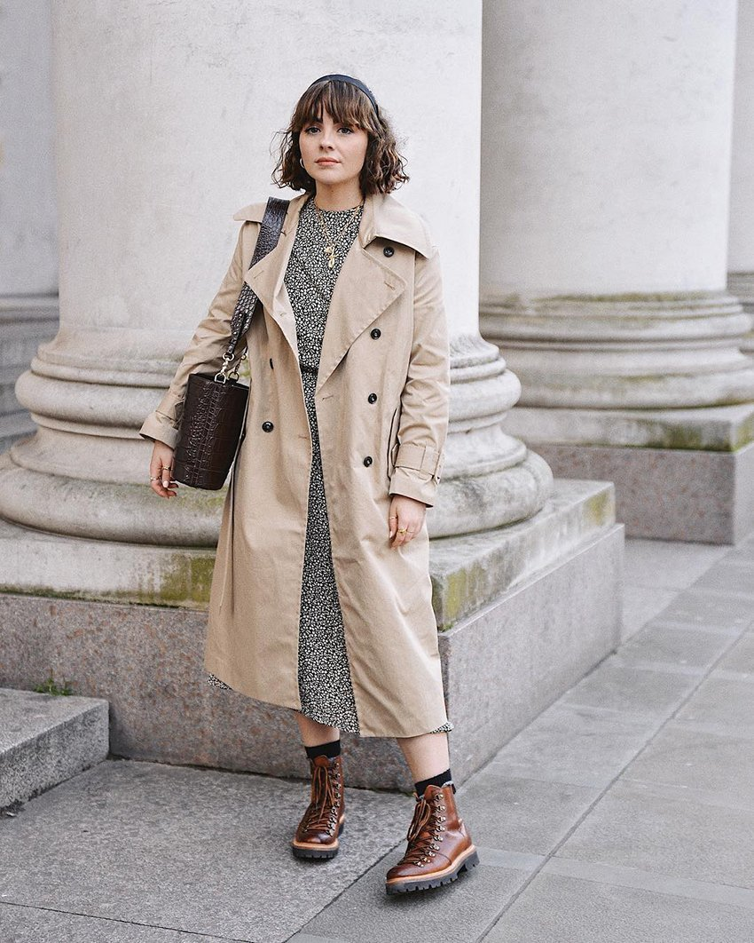 Trench is always approprita outerwear