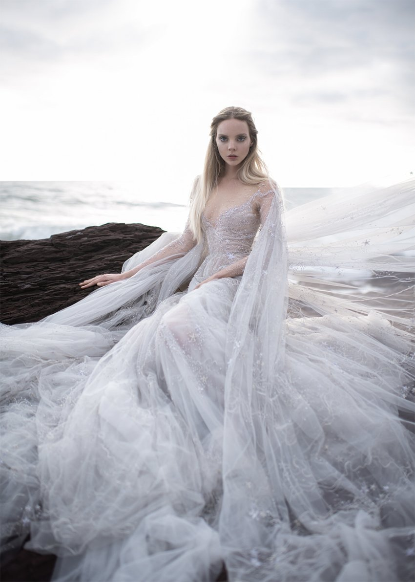 Tulle is the essential fabric of Australian fashion label Paolo Sebastian