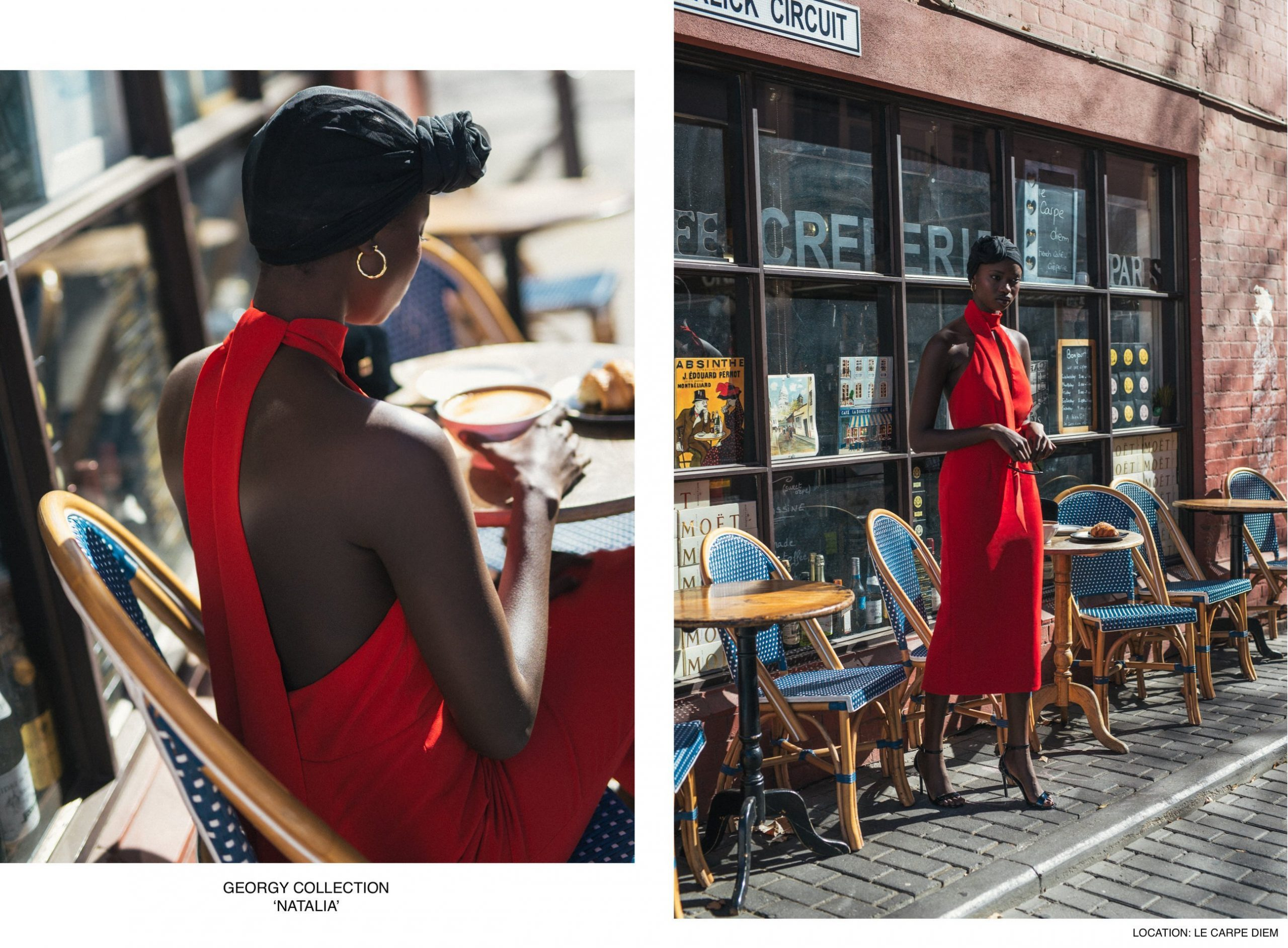 Agi Akur wearing the Natalia dress by Georgy Collection
