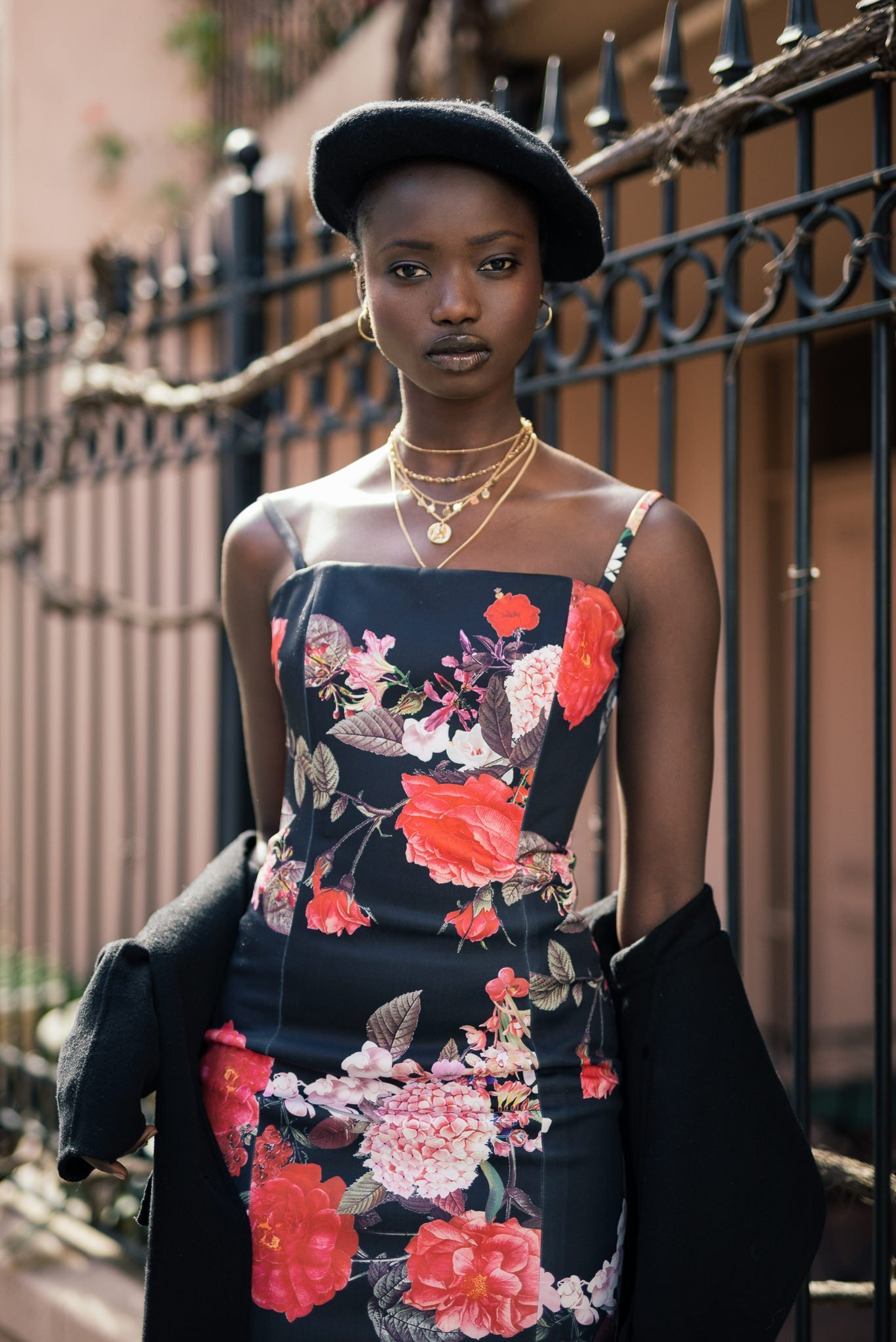 Agi Akur wearing the Lilly dress by Georgy Collection