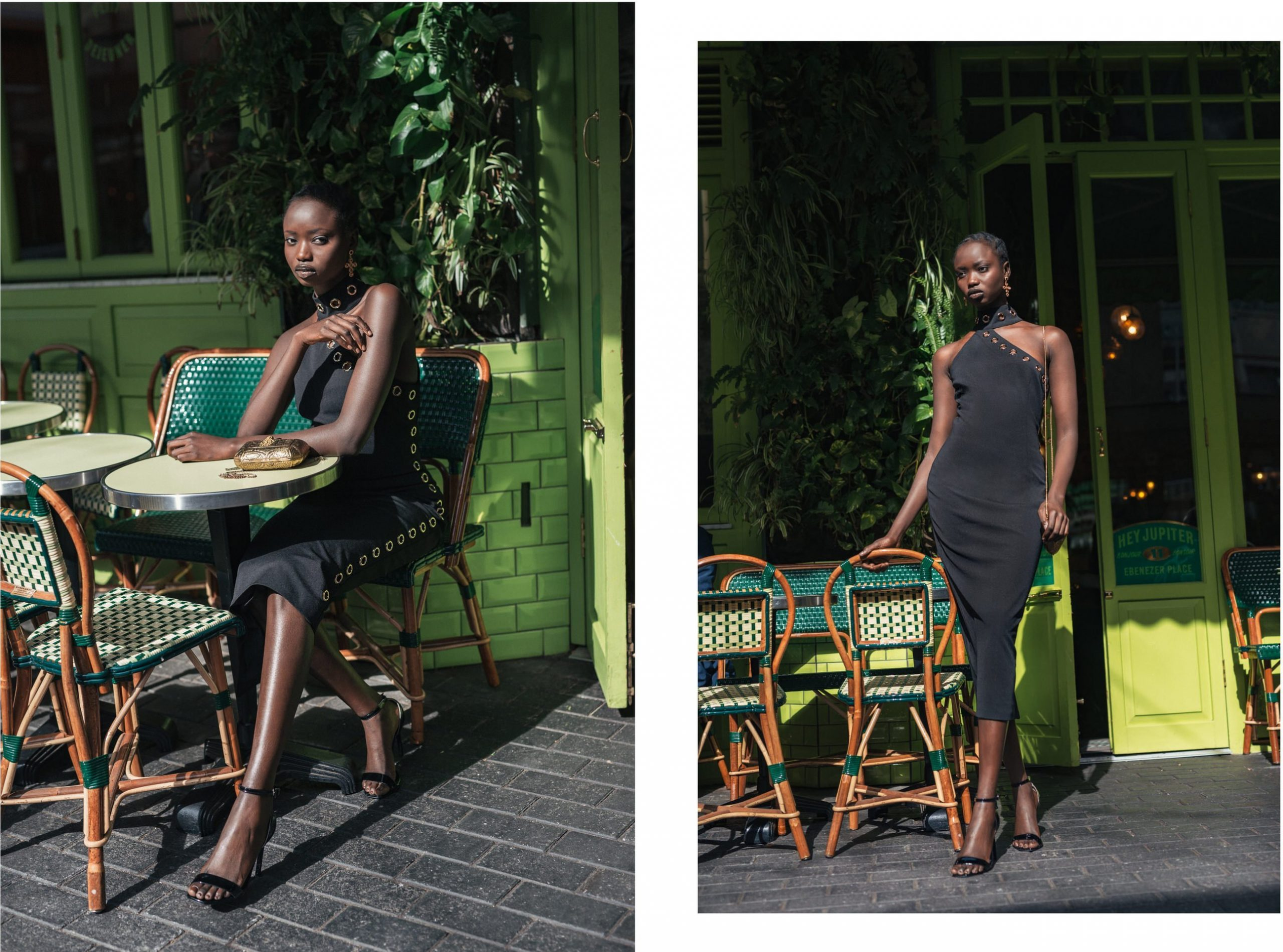 Agi Akur wearing the Artemis dress by Georgy Collection