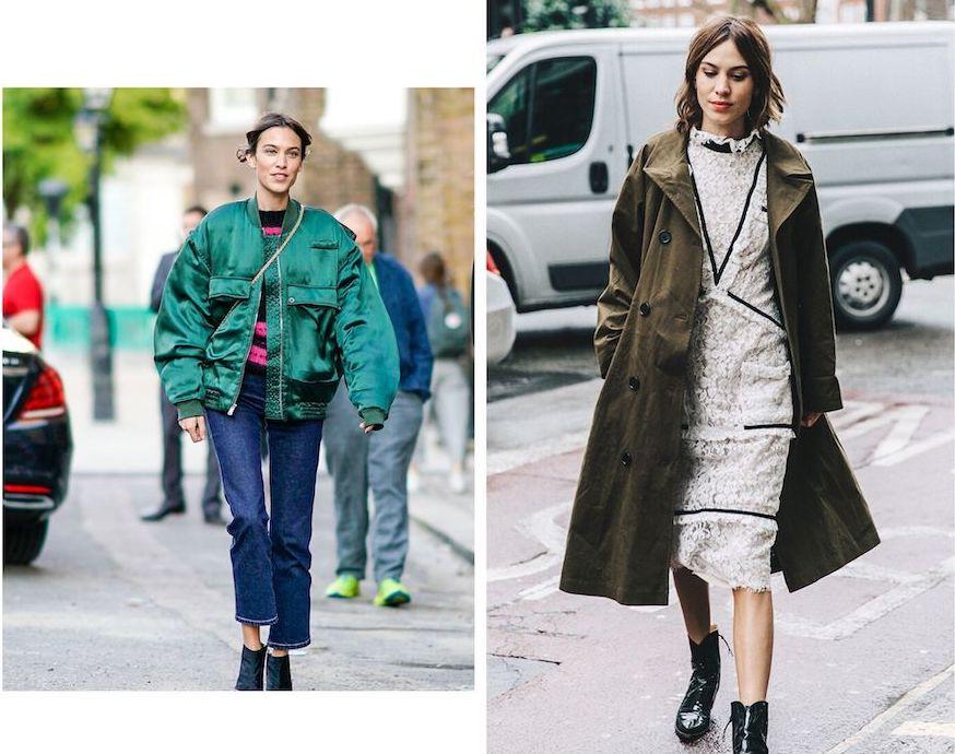 Alexa Chung Modelling vintage fashion