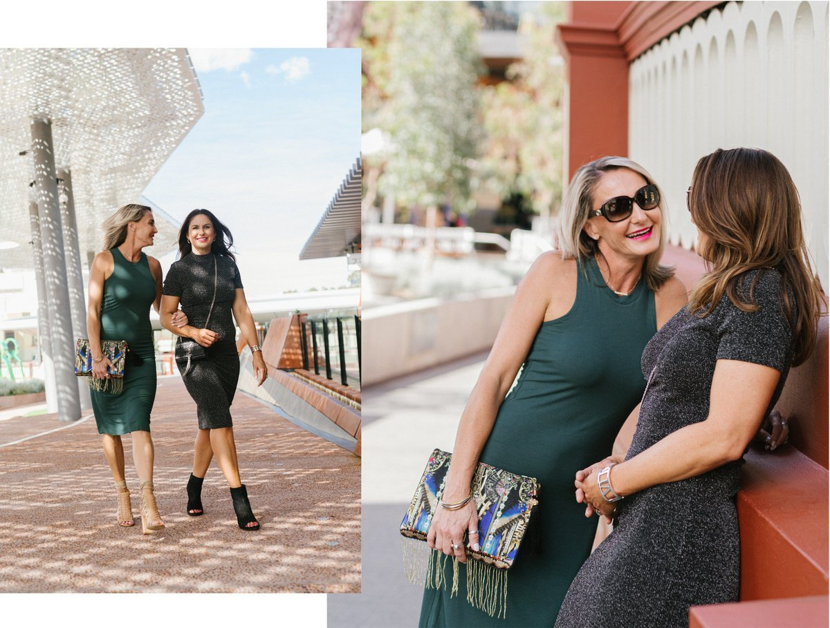 Designer Street style - Rebecca Easterbrook and friend in Wilbur the Label