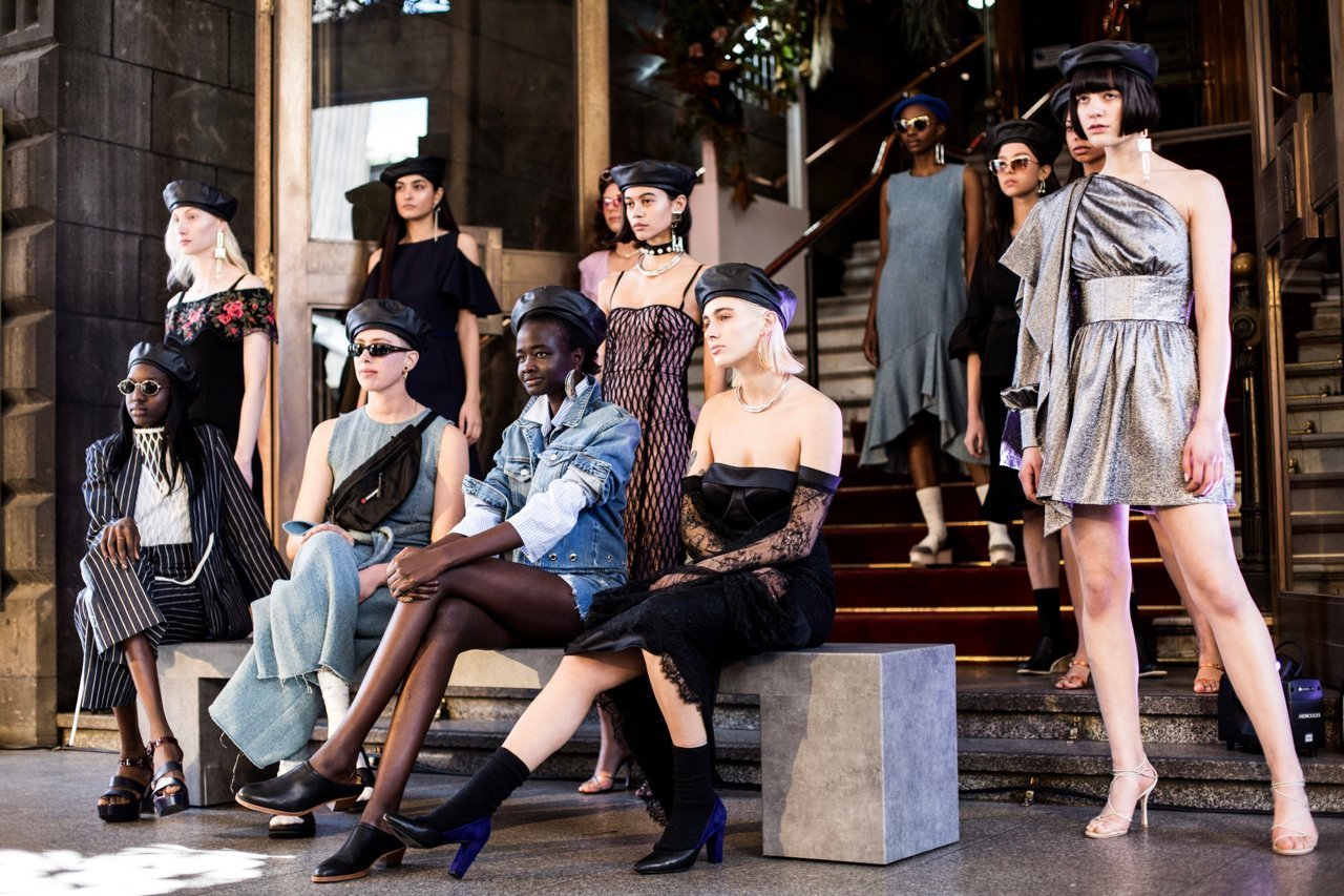 Street style showcase of Ethical fashion at Melbourne Fashion Week