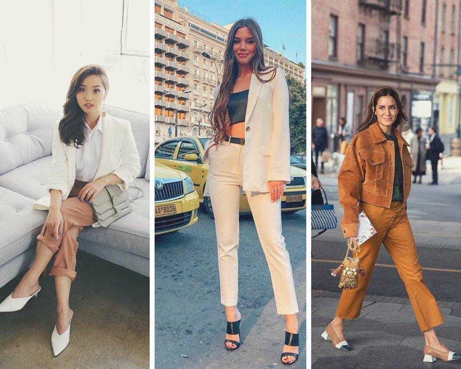 Many fashionistas wear mule heels to work
