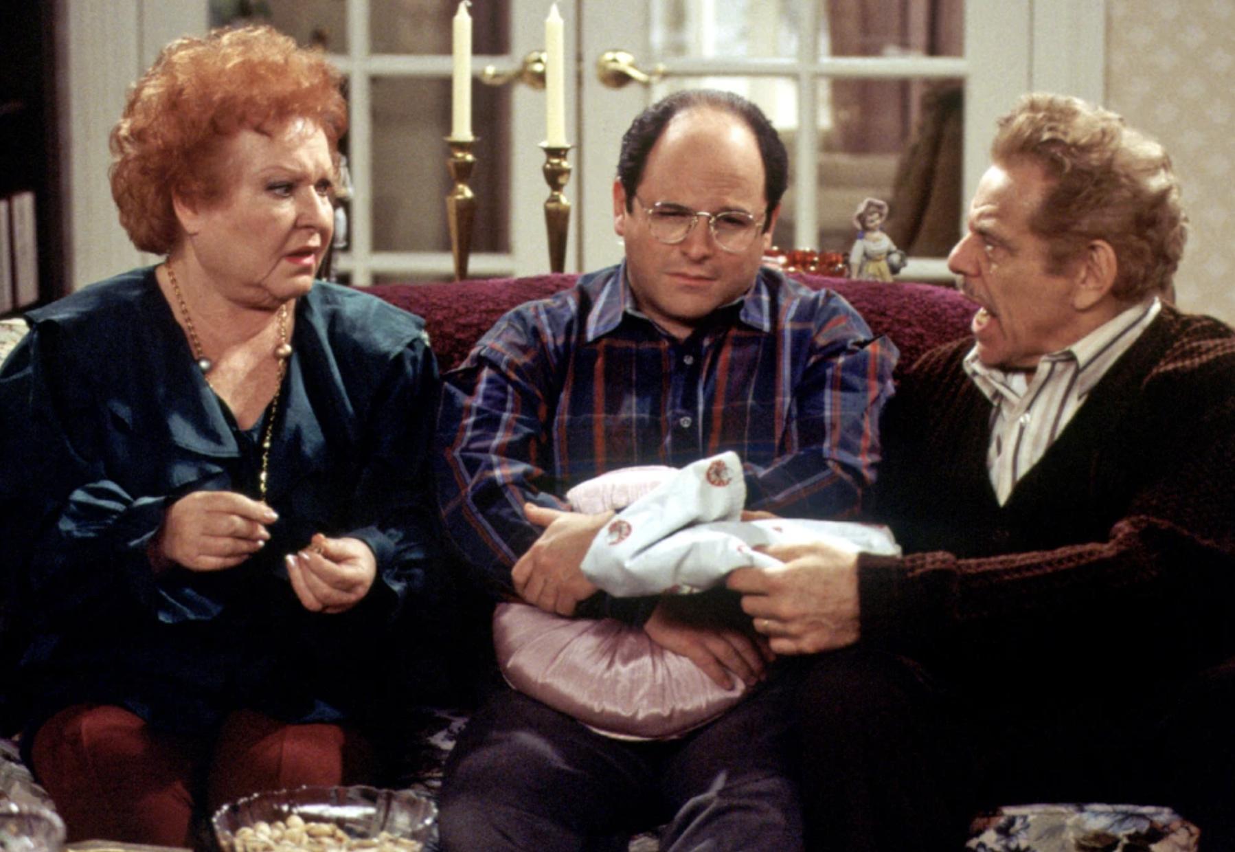 Scene from Seinfeld 'The Strike', about Festivus