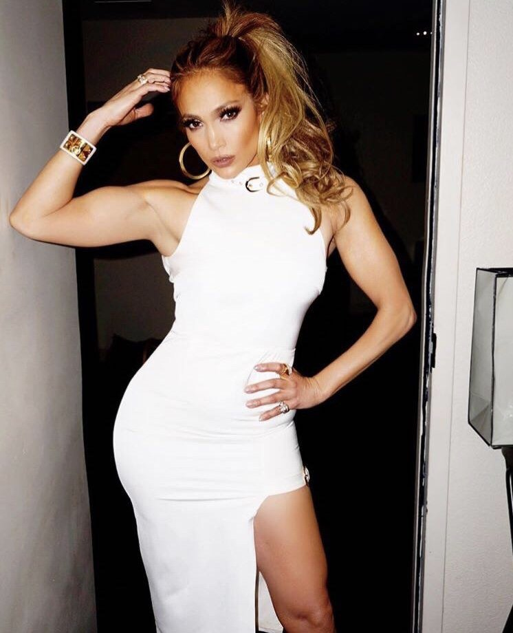 JLo wearing Adelaide designer GEORGY COLLECTION