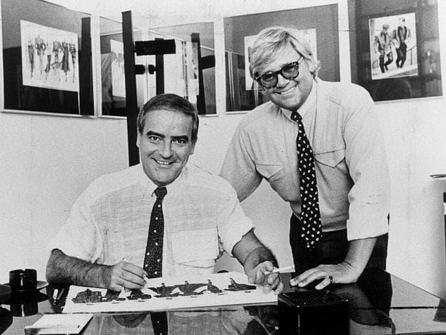 George Gross and Harry Watt in their studio