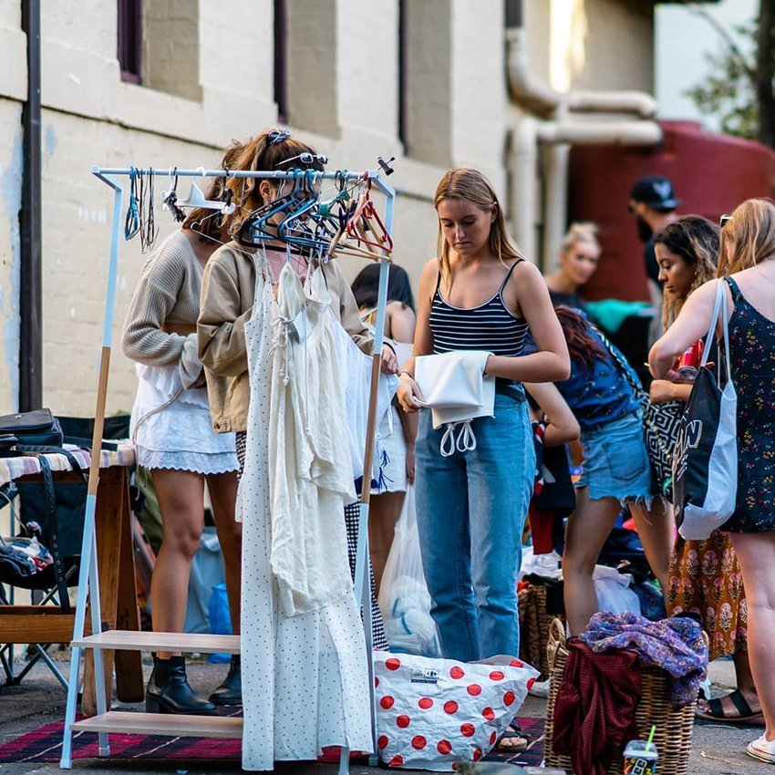 Glebe Market's well known for it's vintage clothing stalls