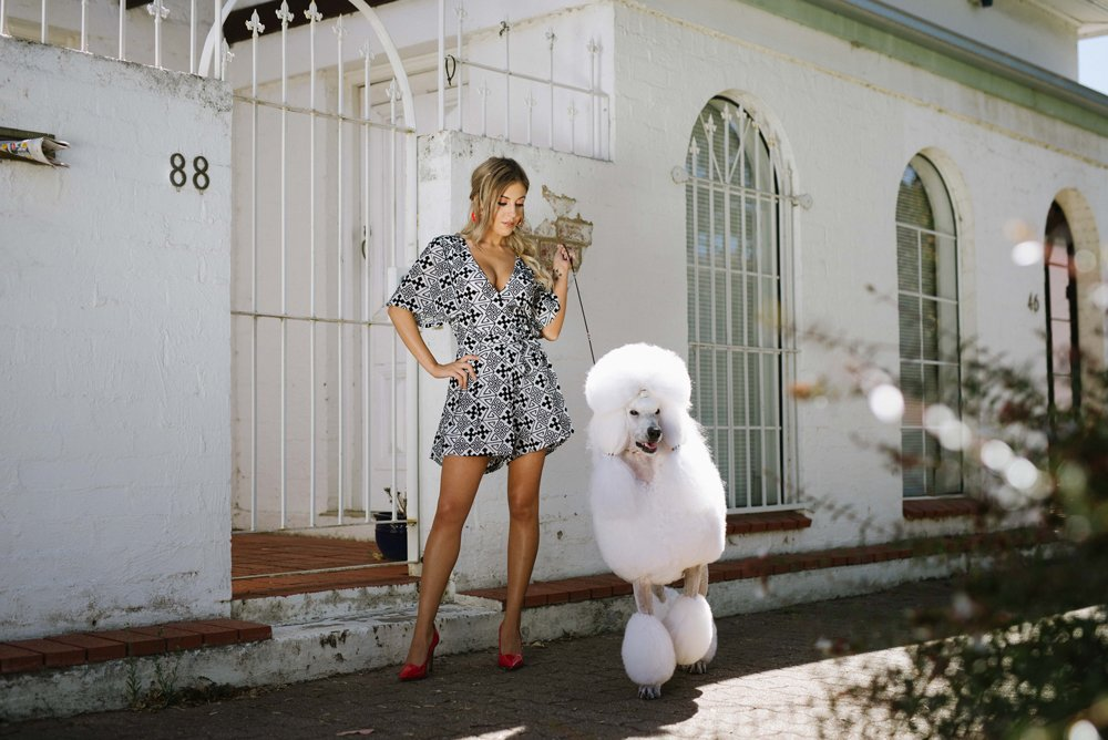 Mariyah & Menzies model Harvey the Label to welcome in the Chinese New Year of the Dog