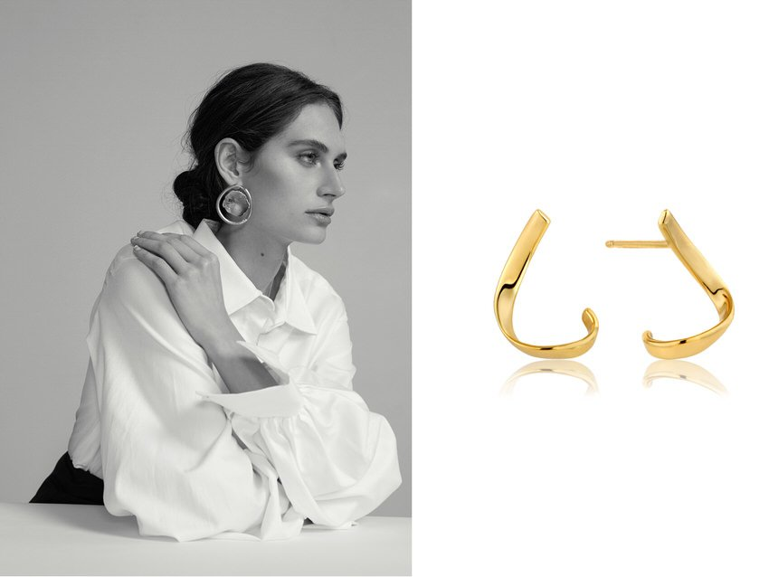 women's fashion looks can easily be upgraded with statement earings