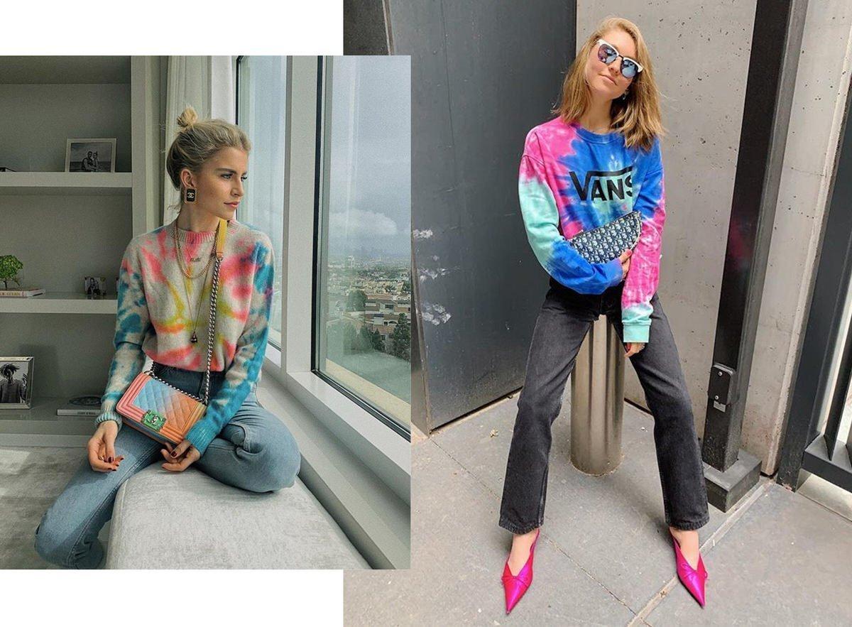 tie-dye womens fashion trend
