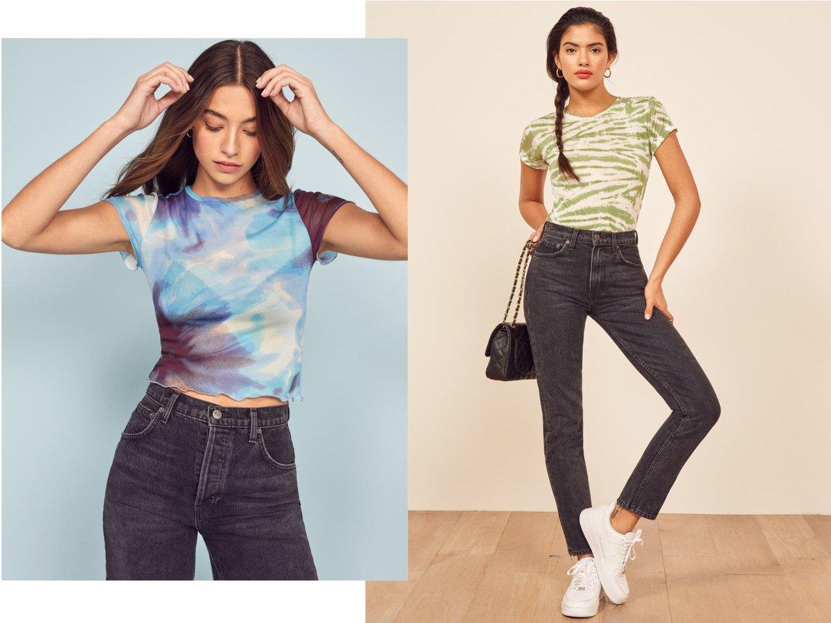 tie-dye tshirt womens fashion trend
