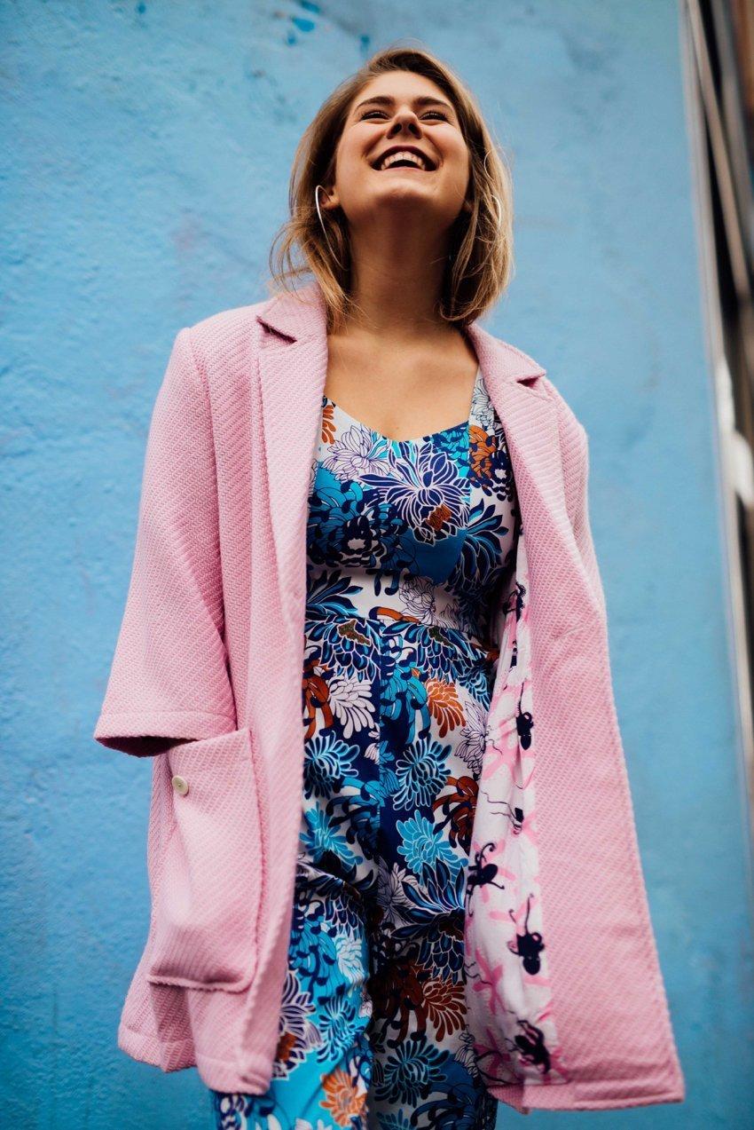 Jess Bicanksi, top-voted fashionista for May, modelling Leonard St