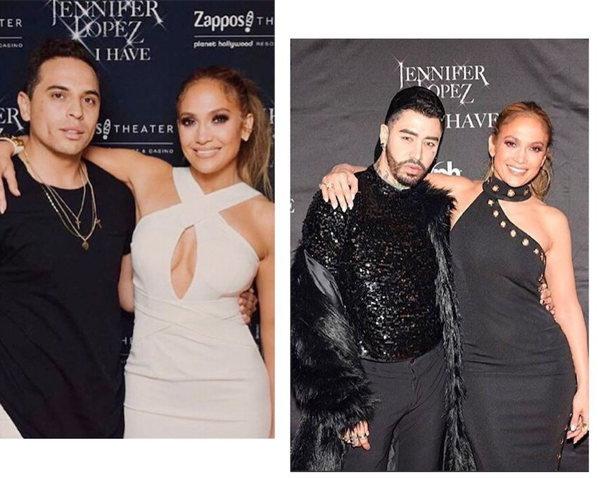 jennifer Lopez wearing Georgy Collection dresses with husband