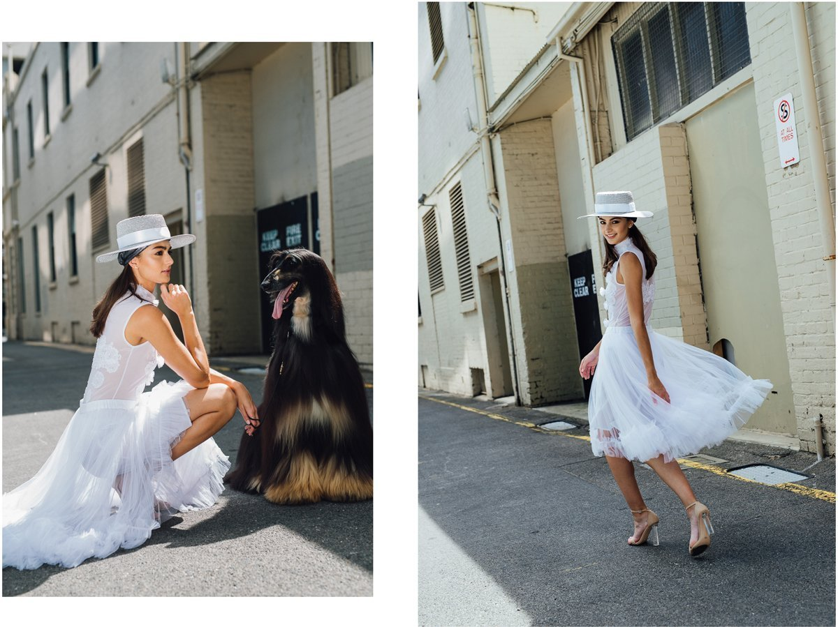 Adrianna & Rymer model Jonté Designs to welcome inthe Year of the Dog