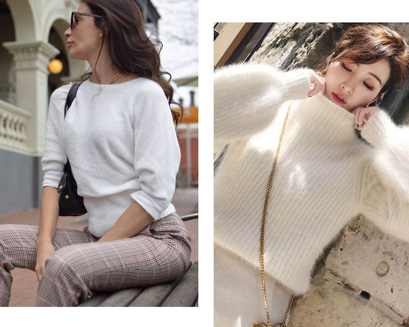 Nautral womens knit wear