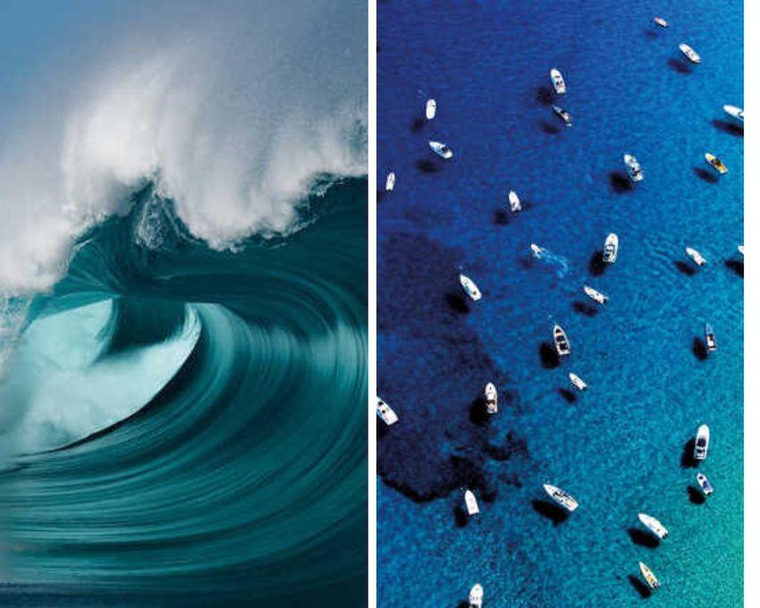 modern art pieces of the ocean