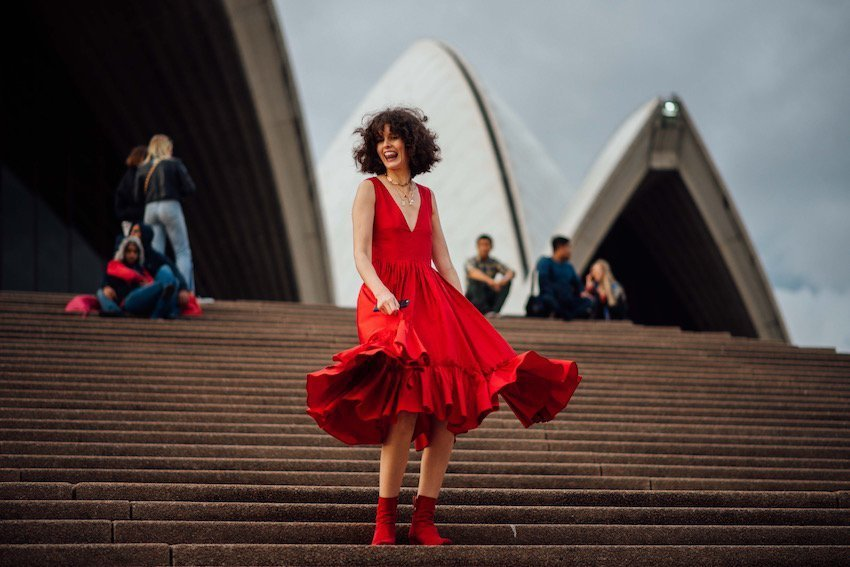 street style at the Sydney Opera House from Fashion Week Australia