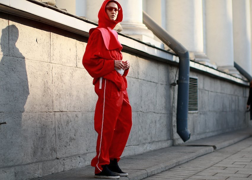 Sporty street style looks for Mercedes Benz-Fashion Week Russia, Day 2