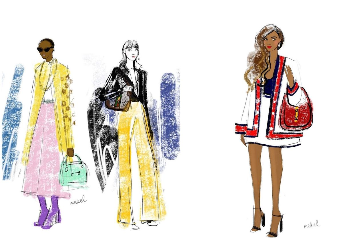 2 Fashion illustrations by Mekel