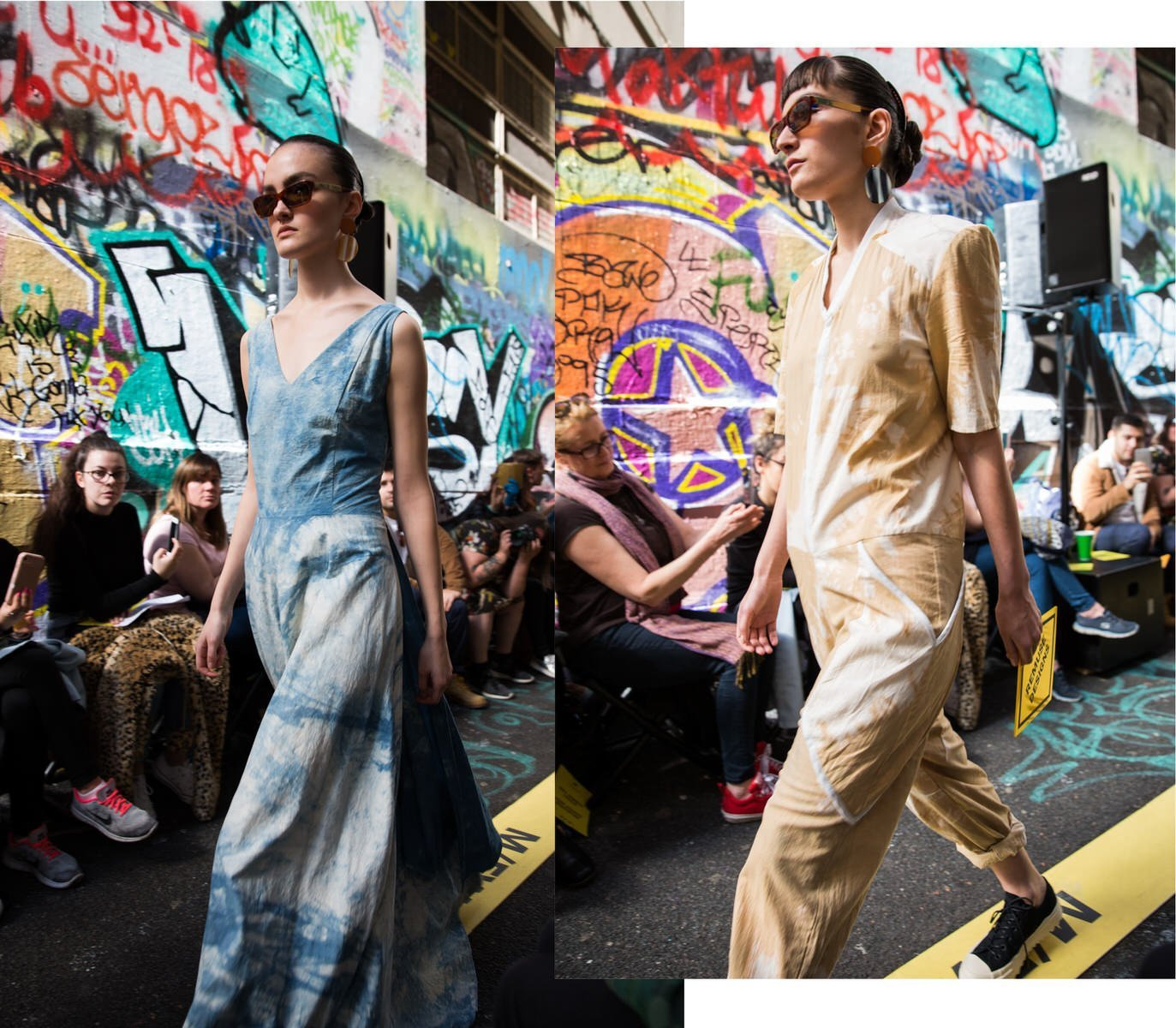 Remuse designs on the runway at Melbourne Fashion Week