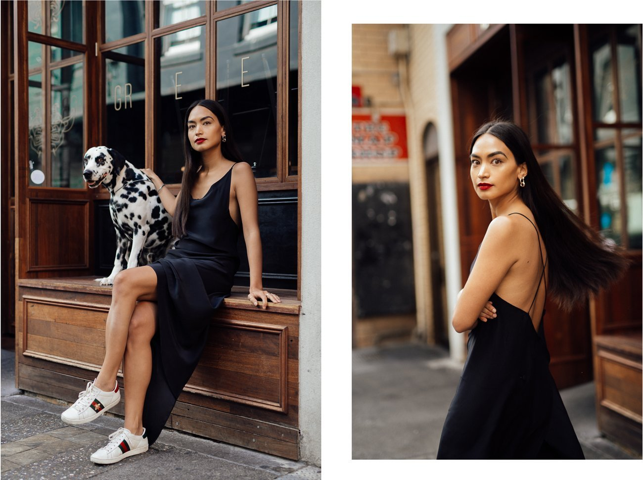 Anna Enriquez and Marcus model Millicent Elizabeth to welcome in the Chinese New Year of the Dog