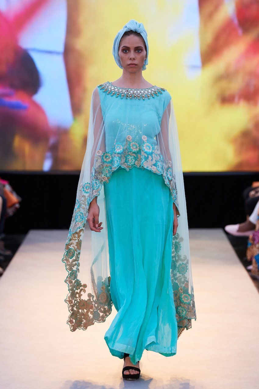 Modest fashions on display at the Multicultural Runway at the Perth Fashion Festival