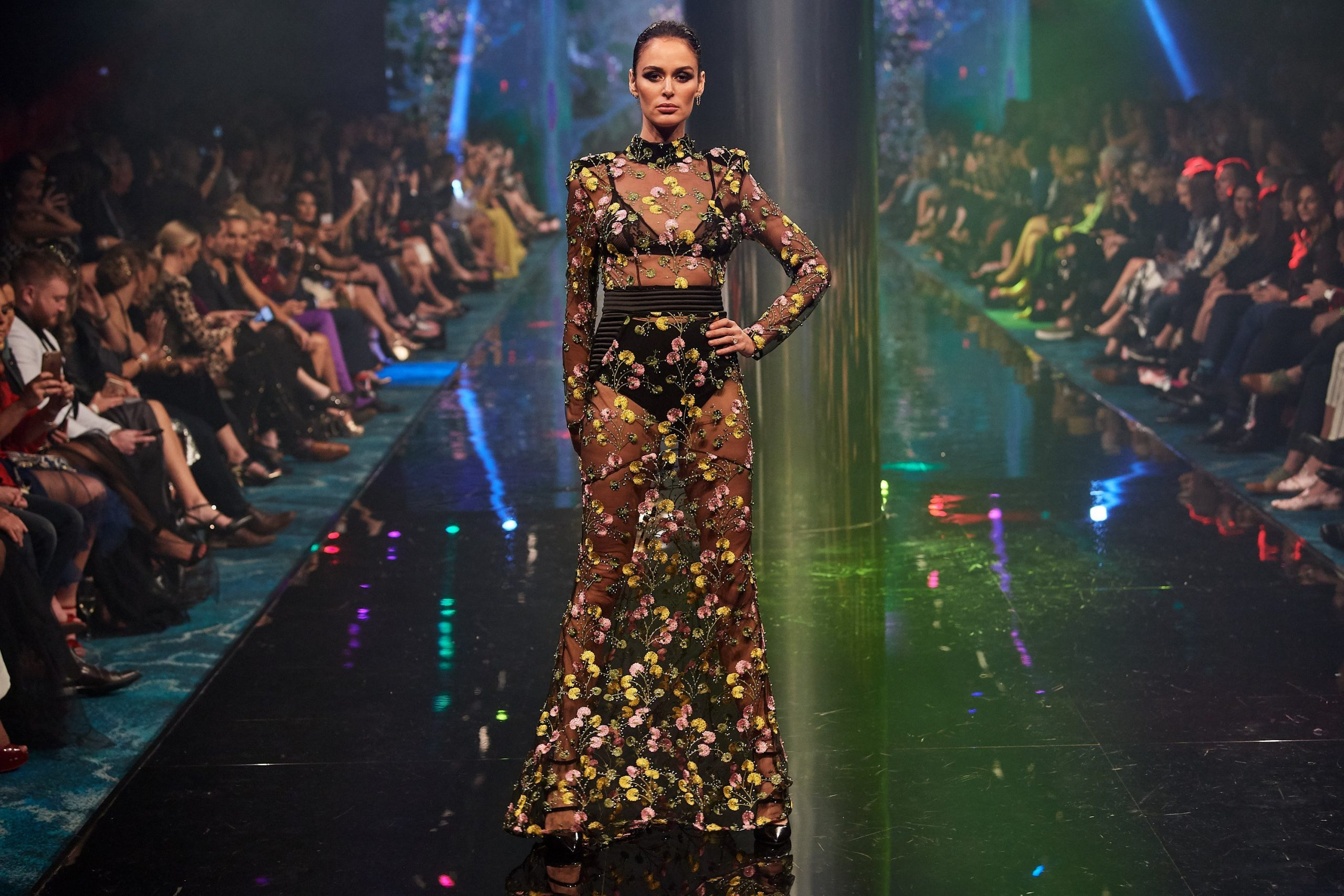 Nicole Trunfio on the runway at TPFF