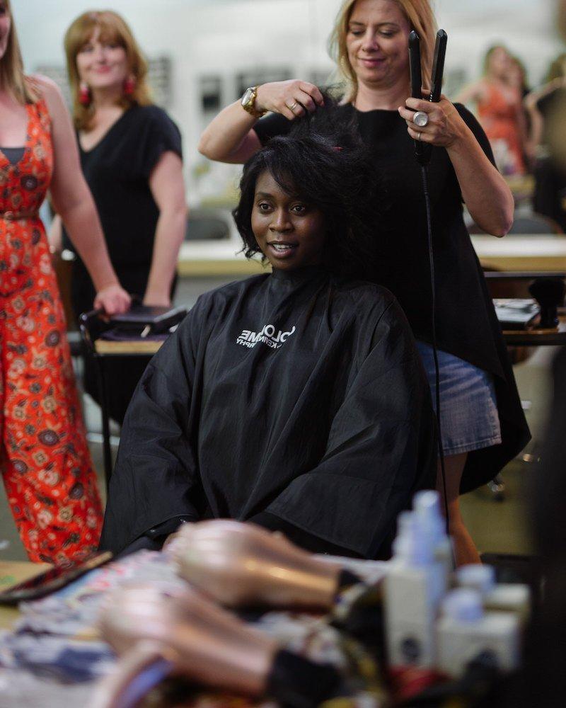 Rasha Kardo in the styling chair at Orenda Hair