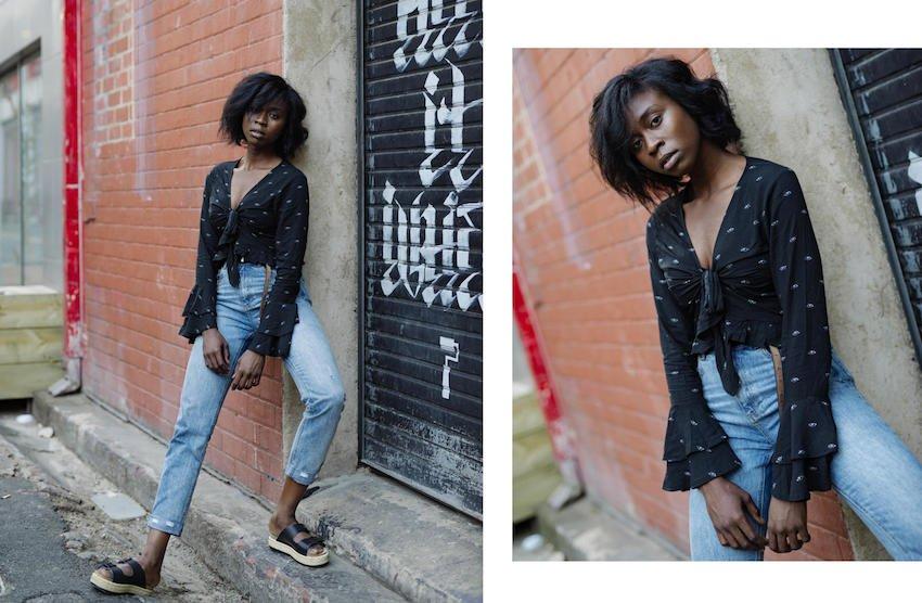 Rasha Kardo poses with her new style