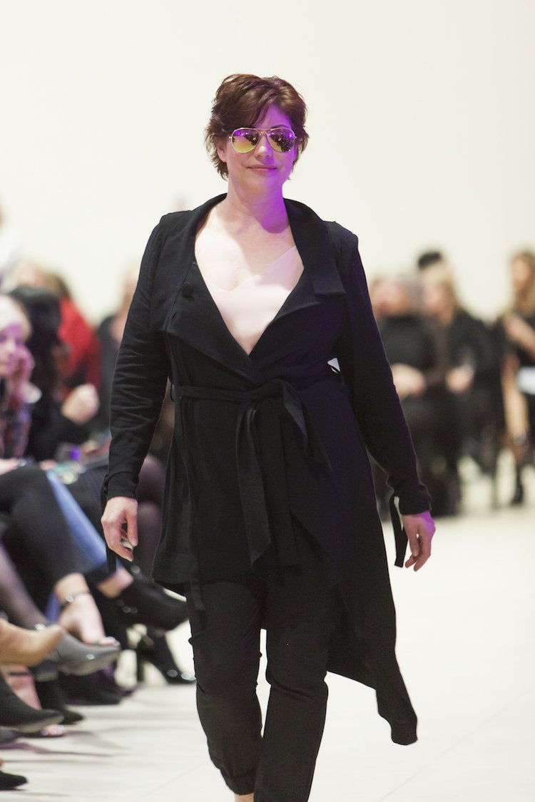 One of the reasons why 500 fashinistas turned up to see Paige Rowes's latest collection
