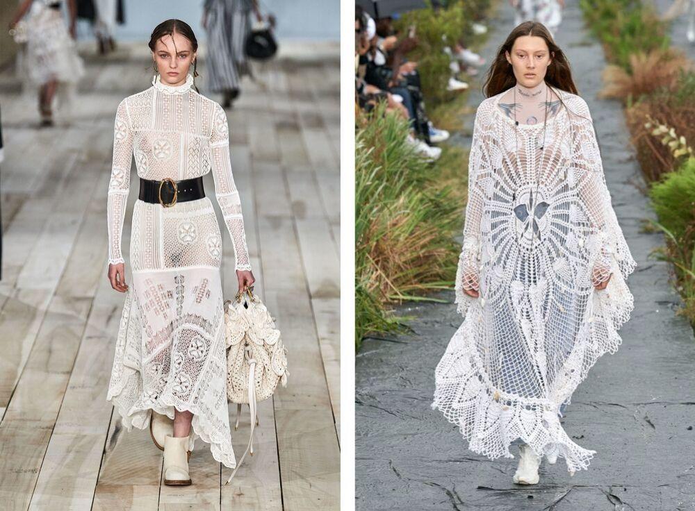 Crochet women's fashion week