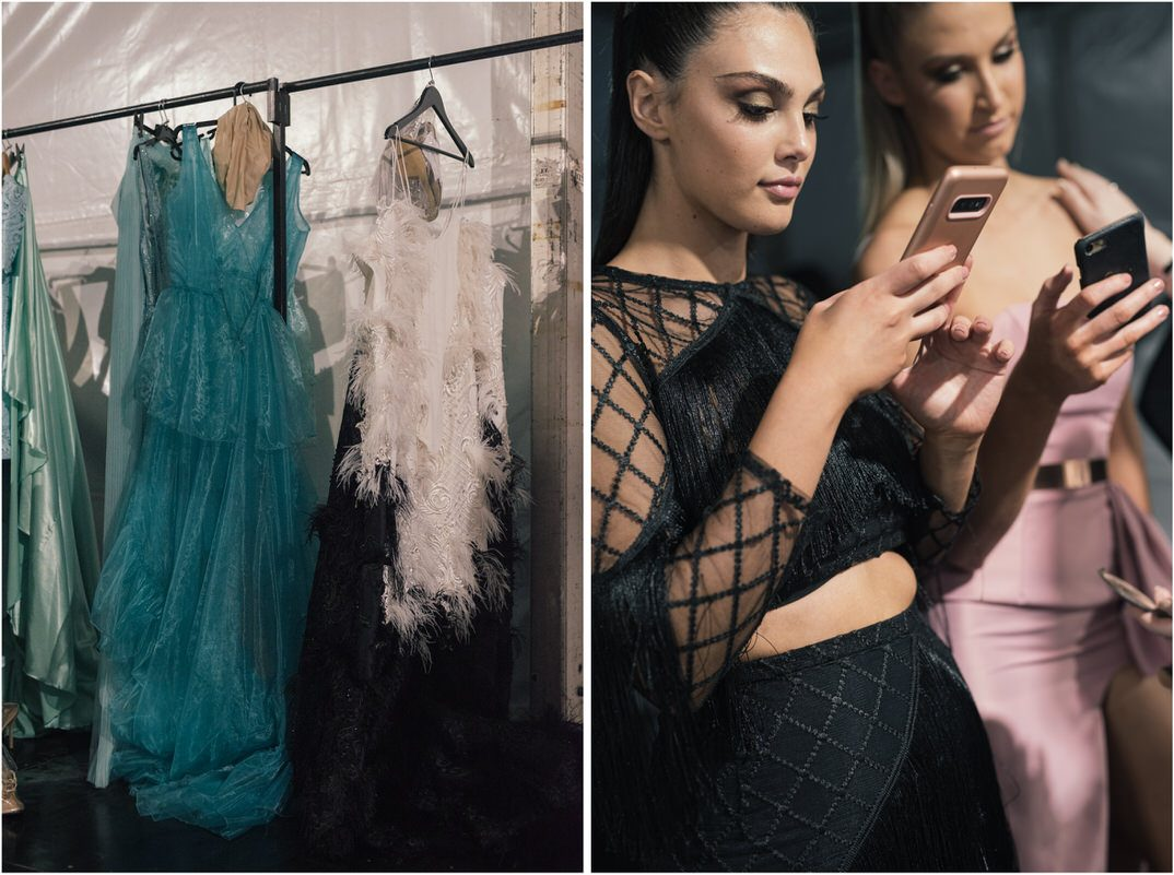 Backstage at Perth Fashion Festival