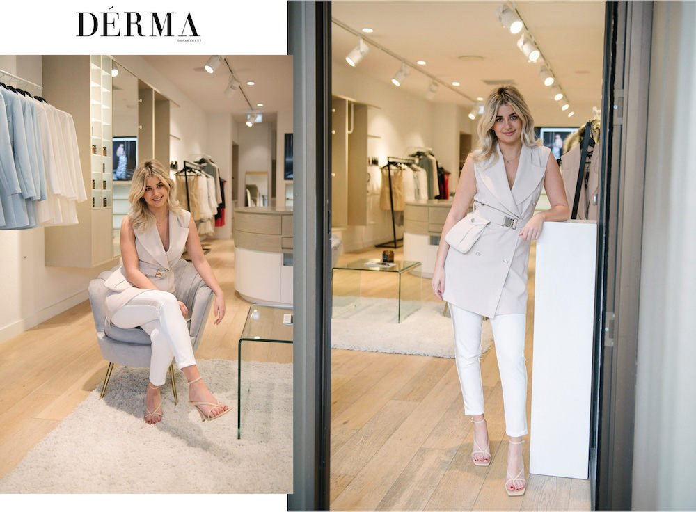 Adelaide fashion designer Catherine Marglis, in her Derma Department Boutique