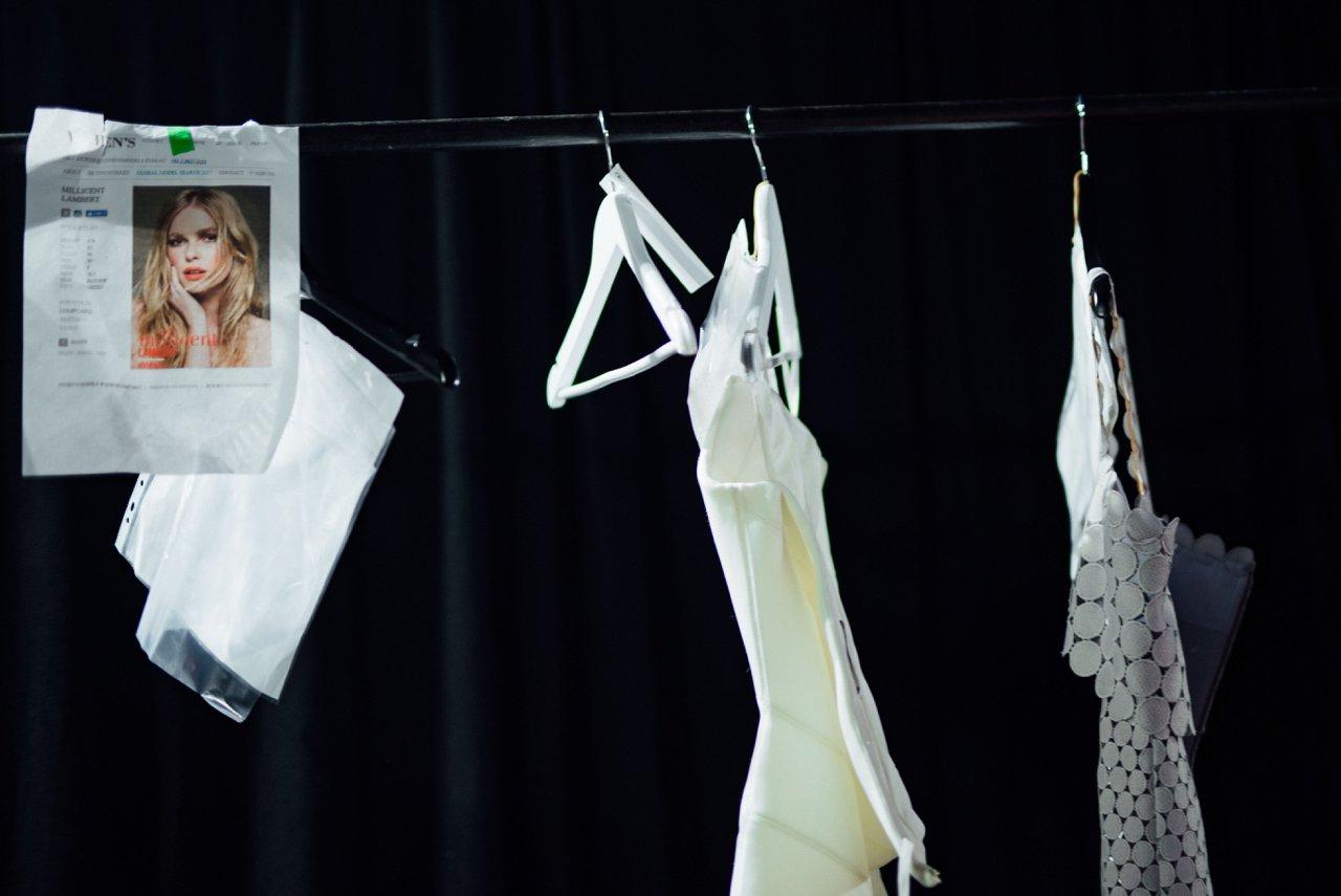 Rachel Gilbert, backstage at Telstra Perth Fashion Festival 2017