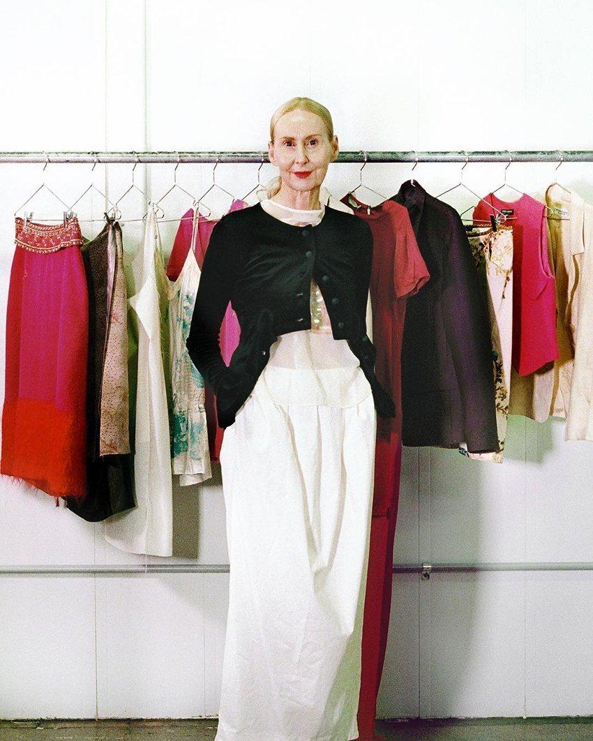 @patcasten wearing vintage gear from Recylce Boutique
