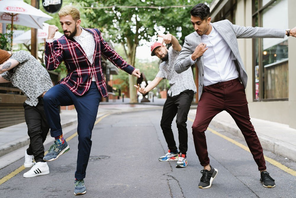 Into their dance groove in Ebenezer Place, Adelaidee